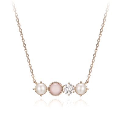 Basic Perlina Necklace(14K)