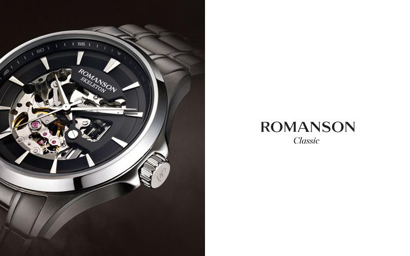 로만손(ROMANSON) 남성 가죽 시계 (RWTLFM001272CESI0)