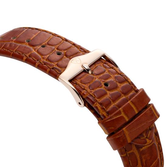 로만손(ROMANSON) 드아르본 남성 오토매틱 가죽 시계 RWCBRM8A1300RGRG0