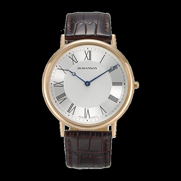 로만손 남성 가죽 시계 (RWTLBM7A2400RGSI0)