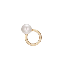 Mystere Rond Pearl Gold Earring(14K)