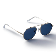 GREY_Silver/Blue Sunglass