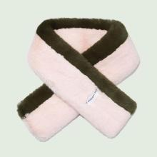 Fur Stole-COMBI_OLIVE/PINK