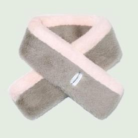Fur Stole-COMBI_PINK/GREY