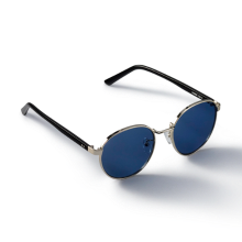 HARBOR_Silver/Blue Sunglass
