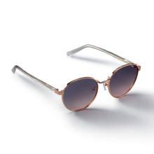 HARBOR_Rosegold/Brown Sunglass