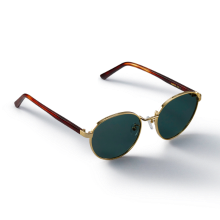 HARBOR_Gold/Green Sunglass