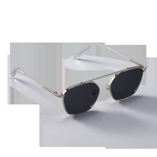 GREY_Silver/Black Sunglass