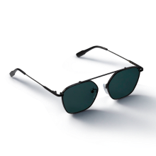 GREY_Black/Green Sunglass
