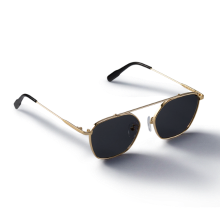 GREY_Gold/Black Sunglass