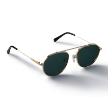 GREY_Gold/Green Sunglass