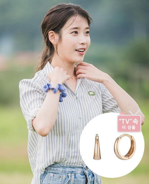 [BEST] [TV 속 이 상품] 아이유 링귀걸이 - J Basic 귀걸이(14K) (JJJBE09AS555R4000)