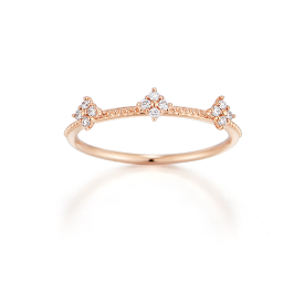 Tre Plumeria Mariebel White Ring