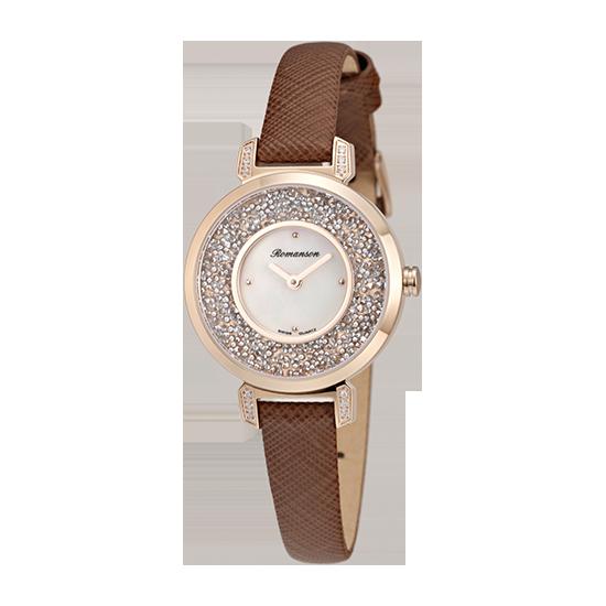 로만손 여성 가죽 시계 (RWRLQL6A3600RGWH0)