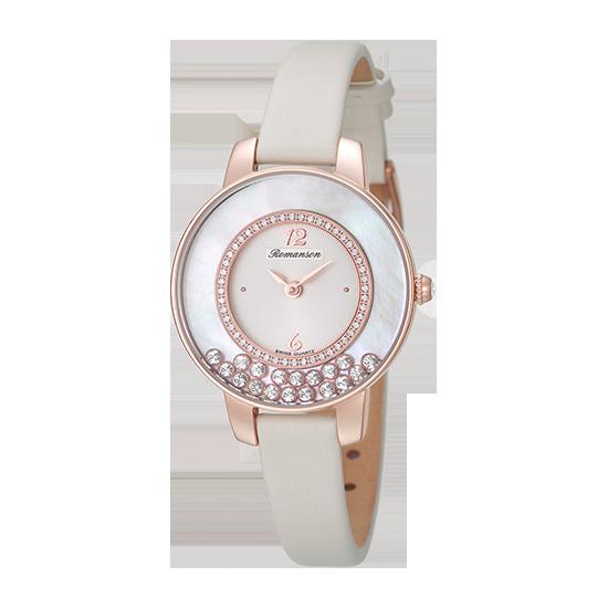 로만손 여성 가죽 시계 (RWRLQL7A3000RGWH0)