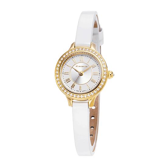 로만손 여성 가죽 시계 (RWRLQL6A3100GOCE0)