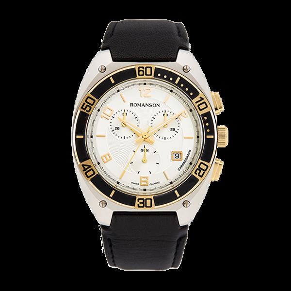 로만손 남성 크로노그래프 가죽 시계 (RWTLHM6A3800CESI0)