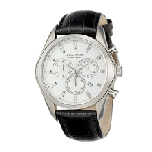 로만손 남성 크로노그래프 가죽 시계 (RWTLHM6A3500WHWH0)