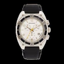 로만손 남성 크로노그래프 가죽 시계 (RWTLHM6A3800WHSI0)