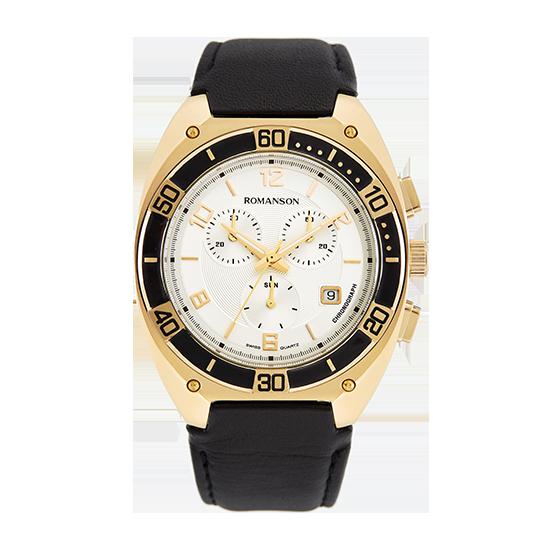 [라스트피스] 로만손 남성 크로노그래프 가죽 시계 (RWTLHM6A3800GOSI0)