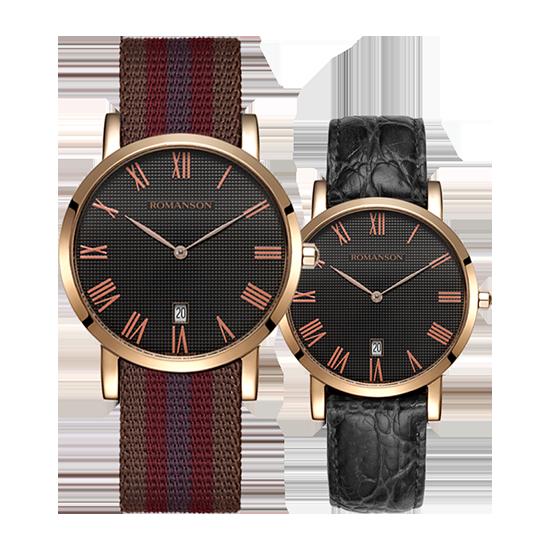 로만손 공용 나토밴드 시계 (가죽밴드 추가증정) (RWTLUU003252RGBK1)