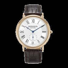 로만손 남성 가죽 시계 (RWTLCM7A2400RGSI0)