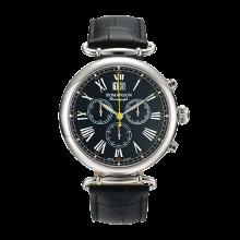 로만손 남성 크로노그래프 가죽 시계 (RWTLHM7A1300WHBK0)