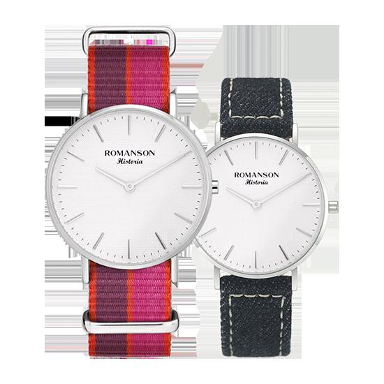 [라스트피스] 로만손 나토밴드 시계(31/18mm)_데님밴드 추가증정 (RWTLBU6A3000WHSI1)