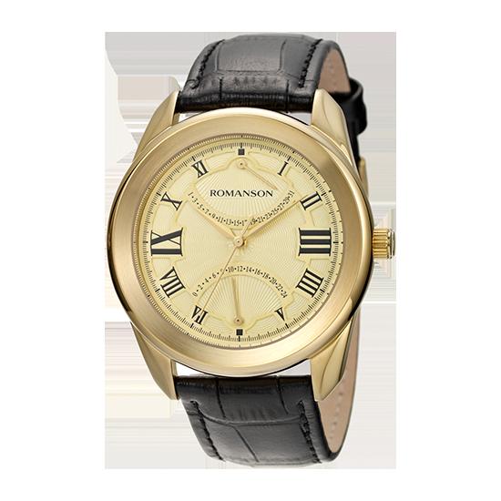 [대한시계] 로만손 남성 가죽 시계 (RWTLBM002615GOGO0)
