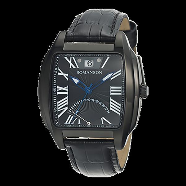 로만손 남성 가죽 시계 (RWTLMM001273BKBK0)