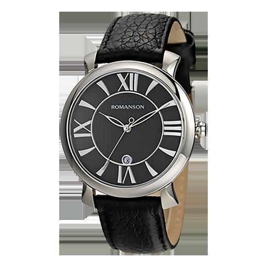 [라스트피스] 로만손 남성 가죽 시계 (RWTLMM001256WHBK0)