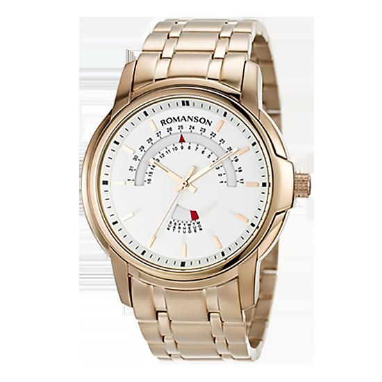 로만손 남성 메탈 시계 (RWTMCM002631RGSI0)