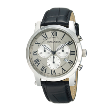 로만손 남성 크로노그래프 가죽 시계