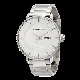 로만손 남성 오토매틱 메탈 시계 (RWTMRM004254WHSI0)