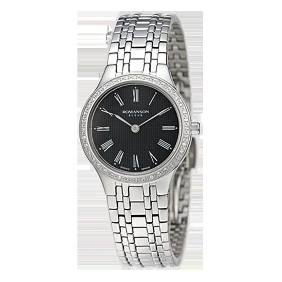 [라스트피스] 로만손 엘베 다이아몬드 여성 메탈 시계 (RWEMKL004252WHBK0)