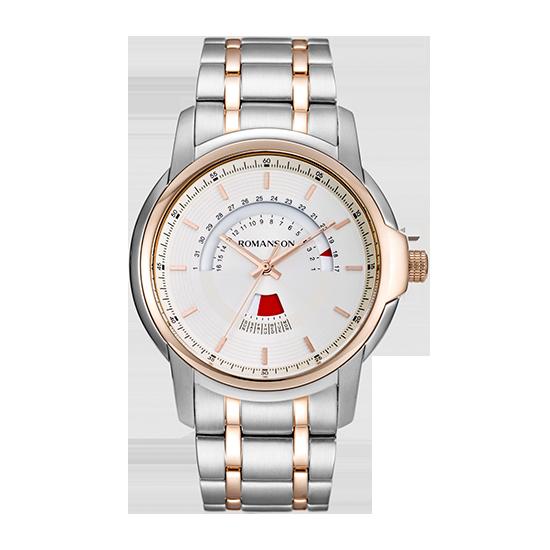 로만손 남성 메탈 시계 (RWTMCM6A2100CRWH0)