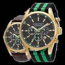 로만손 남성 크로노그래프 나토밴드 시계
