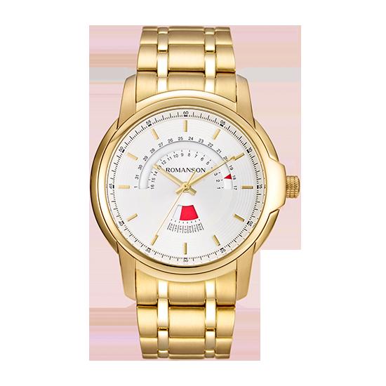 로만손 남성 메탈 시계 (RWTMCM6A2100GOWH0)
