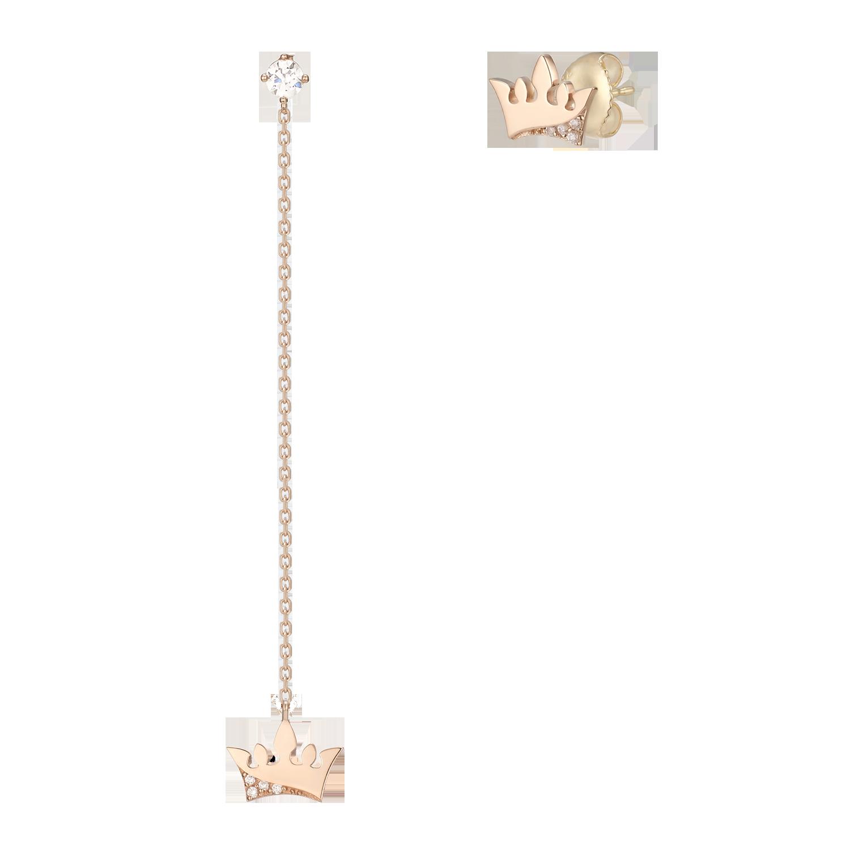 Basic Tiara 귀걸이(14K) (JJT1EQ9AS606R4000)