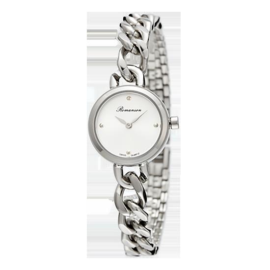 로만손 여성 메탈 시계(RWRMLL004242WHSI0)