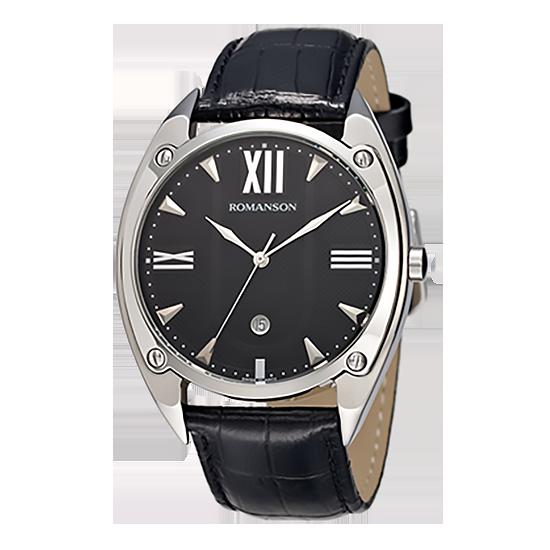 [라스트피스] 로만손 남성 가죽 시계 (RWTLMM001272WHBK0)