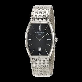 로만손 엘베 다이아몬드 남성 메탈 시계