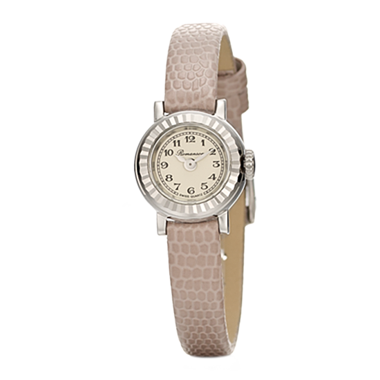 [수능시계] 로만손 프리미어 여성 가죽 시계 (RWPBLL002639WHIV0)
