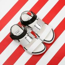 J.ESTINA RED×RACHEL COX_Pointed Band Sporty Sandal Black