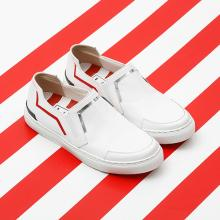 J.ESTINA RED×RACHEL COX_Cutting-Edge White Slip-on White
