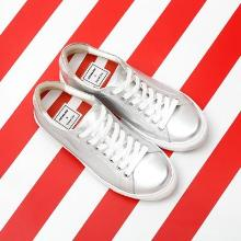 J.ESTINA RED×RACHEL COX_Shining Lace-Up Sneakers Silver
