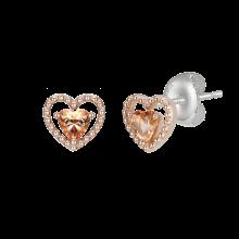[김연아 착장] Peach Heart Earring