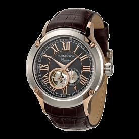 로만손 프리미어 남성 오토매틱 가죽 시계 (RWPBRM002609CRBK0)