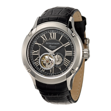 로만손 프리미어 남성 오토매틱 가죽 시계 (RWPBRM002609WHBK0)