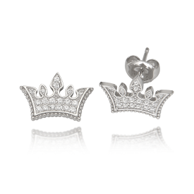 White Dream Tiara Earring